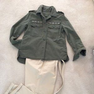 Gap army green jean jacket